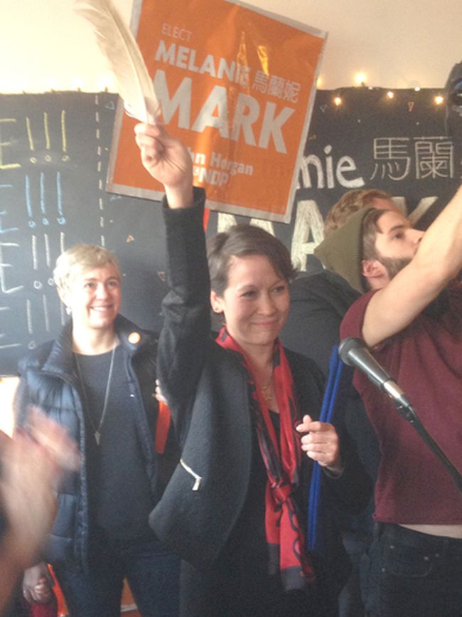 B.C. NDP candidate Melanie Mark won Tuesday's byelection in the Vancouver-Mount Pleasant riding. 