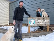 Tillsonburg's Amy and Dave Nadeau, Cannon Creek Dog Boarding, Grooming and Daycare. (CHRIS ABBOTT/TILLSONBURG NEWS)
