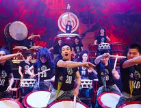Yamato, the Drummers of Japan, make their Vancouver debut at the Queen Elizabeth Theatre. Hiroshi Seo photo