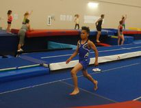 Ethan Fernandes trains at the Grande Prairie Gymnastics Centre. DHT file photo