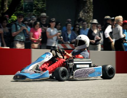 A zero-emission go-kart in action. SUBMITTED