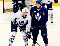 Leafs practice