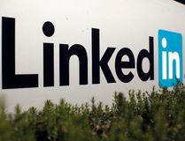 The logo for LinkedIn Corporation, a social networking networking website for people in professional occupations, is shown in Mountain View, California in this February 6, 2013 file photo. (REUTERS/RobertGalbraith/Files)
