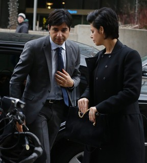 Jian Ghomeshi arrives at Old City Hall for day four of the trial on Friday February 5, 2016.