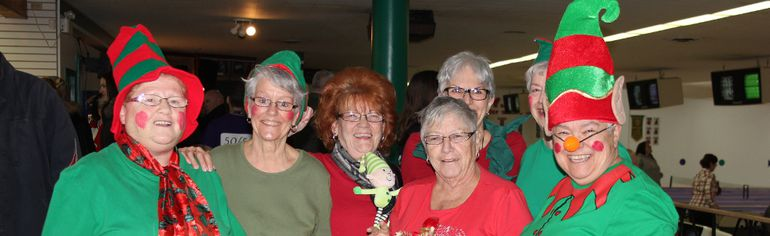 "Les Lutins"" Odette Fortin, Laurene Taylor, Veronique Coriveau, Sylvia Menard, Marta Smith-Roy and Anita Landriault at Olympic Bowl on Saturday February 6, 2016 for the Big Brothers & Big Sisters' Bowl for Kids Sake. Lois Ann Baker/Cornwall Standard-Freeholder/Postmedia Network"