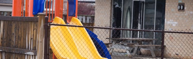 The day after a fire damaged the Kilworth Children's Centre in Kilworth, Ont. on Monday February 8, 2016. Derek Ruttan/The London Free Press/Postmedia Network