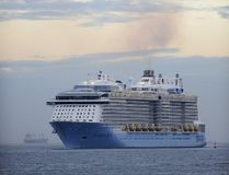 Royal Caribbean's cruise liner 'Anthem Of The Seas' arrives at the port of Bilbao during its maiden voyage, in this April 26, 2015 file photo. (AFP PHOTO/ANDER GILLENEA)