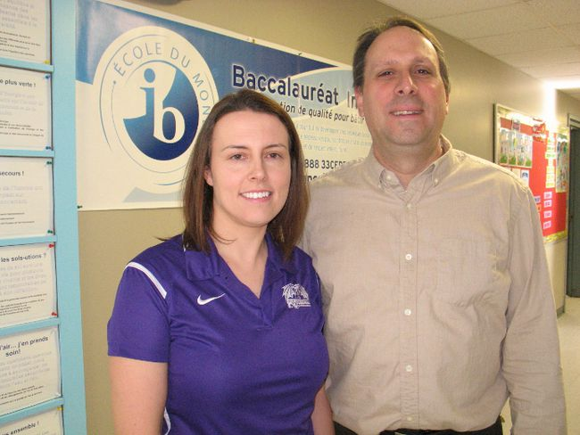 <p>Tyanna Hunt, vice-principal at L'Heritage, and Marc Hurtubise, principal at Rose des Vents, proud of the International Baccalaureate programs at both schools in Cornwall, on Friday February 5, 2016 in Cornwall, Ont. Todd Hambleton/Cornwall Standard-Freeholder/Postmedia Network