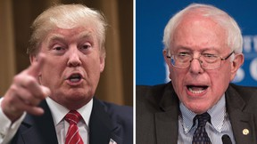 File photos of Republican presidential candidate Donald Trump and Democratic presidential candidate Bernie Sanders. (AFP/Files)