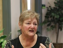 Area 44 Director with Toastmasters International Karen Egge talks about her experience with the organization during the Leadership Development Day held at the Lions Learning Centre in Grande Prairie on February 6. Kendall Vander Veen/Daily Herald-Tribune