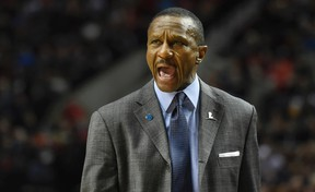 Raptors head coach Dwane Casey is not looking too far ahead for possible playoff matchups yet, especially at this point in the regular season. (Steve Dykes/AP Photo)