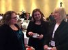Alberta Health Minister Sarah Hoffman, left, speaks with associate health minister Brandy Payne and Alberta Health Services board chair Linda Hughes on Monday, Feb. 8, 2016, at the Westin Hotel during a conference on physician pay.  (Keith Gerein)