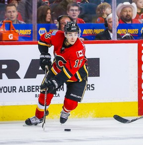 Johnny Gaudreau of the Calgary Flames has 21 goals this season, three fewer than he had all of last season. He's a potential member of Team North America for the World Cup. (SERGEI BELSKI/USA TODAY Sports files)