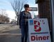 Brenda Der stands outside B's Diner, which is scheduled to close at the end of this month. Photo by Madeleine Cummings, Edmonton Examiner.