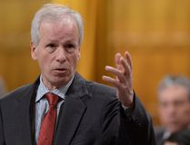 """Minister of Foreign Affairs Stephane Dion responds to a question during question period in the House of Commons on Parliament Hill in Ottawa on Feb. 5, 2016. Lebanon and Jordan are at a critical """"tipping point"""" and need more Canadian help in order to survive the pressure of the Syrian civil war, says Dion. (THE CANADIAN PRESS/Sean Kilpatrick)"""