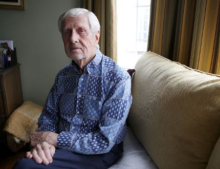 Ray Argyle is leading the Kingston Writers' Refugee Committee, which is working to bring a Syrian writer and his family to Kingston. The committee could find out the indentity of the family it is to sponsor in the coming days. (Elliot Ferguson/The Whig-Standard)