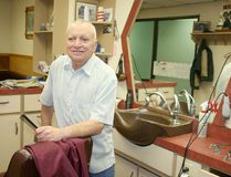 Roger Picard, Timmins' famous election-polling barber is seen here in April 2011, prior to the May federal election. Picard who closed his shop and retired last year, died Friday following a lengthy illness. He was 71.