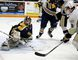 Mitch Emerson scores for TGH vs. Whitby Wednesday night. (Tim Meeks/The Intelligencer)