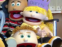 Photos of Canadian Mental Health Association Kingston office puppets Jose, top left, and Queen Brenda, which were stolen from their Kingston office on Wednesday. (Submitted photo)