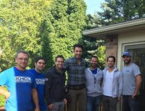 Kilbarry Hill Construction is assisting on a number of episodes of Season 5 of Property Brothers, featuring Jonathan Scott (fourth from right) and his brother Drew.