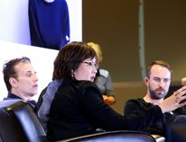 <p>Dr. Angelita Sanchez makes a point at the Bell Let's Talk and NEO Kids discussion on youth mental health as Michael Landsberg and pro golfer Andrew Jensen look on in Sudbury, Ont., on Thursday, February 11, 2016. Gino Donato/Sudbury Star/Postmedia Network