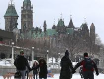 Skaters enjoy the Rideau Canal on its opening day