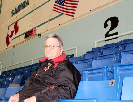 Doug White, the Sarnia Legionnaires' 65-year-old trainer, still vividly remembers watching the team win the 1957-58 Sutherland Cup on home ice when he was just eight years old. The Sarnia resident even recalled exactly where he was sitting that night: Section two, four rows down and approximately the fourth seat in, although the arena had benches back then instead of its current single-seat setup. Terry Bridge/Sarnia Observer/Postmedia Network