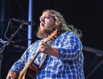 <p>Canadian blues and folk musician Matt Andersen performs with special guest Donovan Woods at the Banff Centre on Saturday, Feb. 20, 2016. (Photo credit: Sean Sisk)