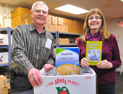WrapAround Simcoe, an organization that aims to assist those in need, recently moved into a new home at 23 Kent Street in Simcoe alongside the Simcoe Caring Cupboard. WrapAround board member Jean Montgomery, left, and fellow board member and Caring Cupboard Administrator Al Martens see great benefits with the new location. JACOB ROBINSON/Simcoe Reformer