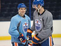 Hall and Purcell at practice