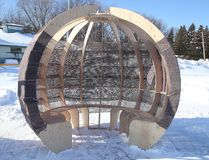 <p>First year students at the Laurentian School of Architecture produced four warm-up huts for the skate path. The huts will be on the lake until the skate path closes. Gino Donato/Sudbury Star/Postmedia Network