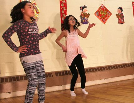 A quartet of child dancers practice their performance Saturday afternoon for the evening's Lambton Chinese Canadian Association Chinese New Year celebration. From left are Cynthia Zhang, Cheryl Li, Lin Core, and Hannah Yao. Tyler Kula/Sarnia Observer/Postmedia Network