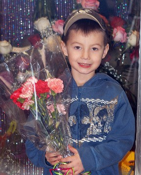 Sacred Heart kindergarten student Jaxson Jacobs is bringing flowers for the girls in his class to celebrate Valentine's on Feb. 12.