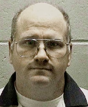 This undated photo released by the Georgia Department of Corrections shows death row inmate and former U.S. Navy sailor Travis Hittson in Georgia. Hittson, 45, convicted of killing a fellow sailor in Georgia, is scheduled to be executed later this month, state corrections officials said Tuesday, Feb. 2, 2016. (Georgia Department of Corrections via AP)