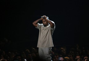 """Kanye West pauses as he speaks at the Video Vanguard Award at the 2015 MTV Video Music Awards in Los Angeles, California, in this August 30, 2015 file photo. West, who says he is $53 million in debt, has asked Facebook Inc's Chief Executive Officer Mark Zuckerberg to invest $1 billion into his """"ideas"""".  REUTERS/Mario Anzuoni/Files"""