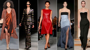 Leather dresses at Oscar de la Renta, feather everything at Michael Kors and a combo of all-business armour and a 1920s dream at Vera Wang were some of our favourite highlights from New York Fashion Week. While maybe not affordable for budgets just yet, if we could, here are 20 looks we'd buy and wear next fall.
