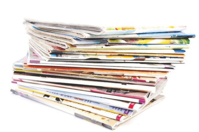 Too many magazines stacked beside a favourite reading chair? Recycle them.