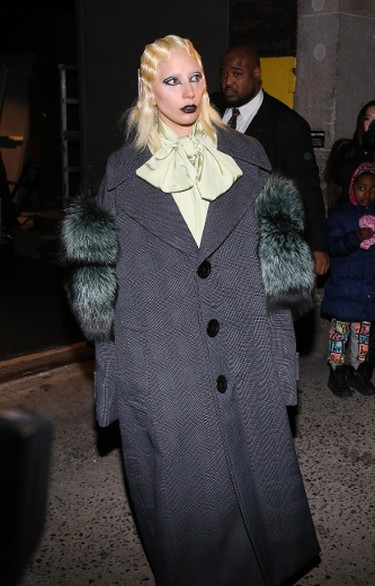 Lady Gaga at Departures at Marc Jacobs Fall 2016 Show ,Feb 18 2016 - Park Avenue Armory New York United States.  Featuring: Lady Gaga Where: New York, New York, United States When: 19 Feb 2016 Credit: Andres Otero/WENN.com