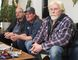 """Three survivors: Left to right, outdoors men Brad Jakubiak, their """"hero"""" Ross Guy, and Mike Rimmer share their tragic story of how they fell through the ice and were saved, but lost their friend Brent Fisher.  Tracy McLaughlin/Toronto Sun/Postmedia Network"""