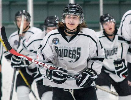 Cullen Hinds scored two goals and added an assist as the Napanee Raiders beat the Gananoque Islanders 5-1 in Game 2 of their Provincial Junior Hockey League Tod Division semifinal Sunday night in Gananoque. (The Whig-Standard)