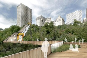 Rendering of the City of Edmonton's Mechanized River Valley Access project. (City of Edmonton)