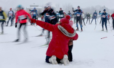 The Gatineau Loppet wrapped up it's 38th edition with skate-style races in Gatineau Quebec Sunday Feb 28, 2016. Thousands of skiers took part in the biggest international cross-country ski event in Canada Sunday.