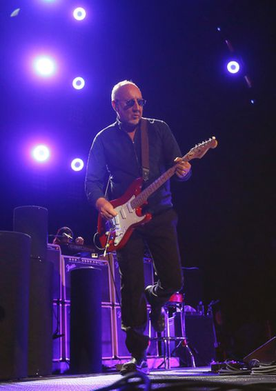 The Who legendary guitarist Pete Townshend plays their first song  Who Are You during  The Who Hits 50! tour at the ACC in  Toronto, Ont. on Tuesday March 1, 2016. Jack Boland/Toronto Sun/Postmedia Network