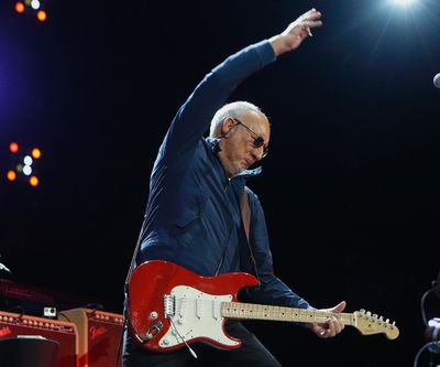 Pete Townshend winds through his trademark windmill swings during Who Are You during The Who Hits 50! tour at the ACC in  Toronto, Ont. on Tuesday March 1, 2016. Jack Boland/Toronto Sun/Postmedia Network