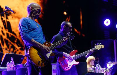 Simon Townshend (L) and Pino Palladino play their second song The Seeker during the The Who Hits 50! tour at the ACC in  Toronto, Ont. on Wednesday March 2, 2016. Jack Boland/Toronto Sun/Postmedia Network