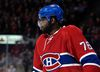 Montreal Canadiens defenceman P.K. Subban takes a breather during second-period NHL action against the Nashville Predators at the Bell Centre in Montreal on Feb. 22, 2016. (Eric Bolte/USA TODAY Sports)