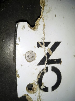 A photograph of debris thought to be from the missing Malaysian Airlines MH370 plane is seen in this handout picture taken on Feb. 28, 2016.  REUTERS/Blaine Gibson/Australian Transport Safety Bureau/Handout