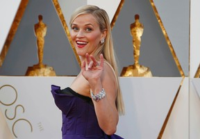 Actress Reese Witherspoon arrives at the 88th Academy Awards in Hollywood, California February 28, 2016.  REUTERS/Lucy Nicholson