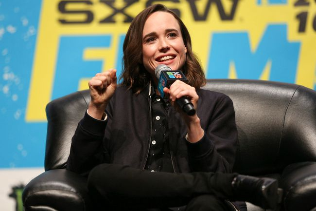 Ellen Page speaks at a panel discussion during South By Southwest at the Austin Convention Center on Saturday, March 12, 2016, in Austin, Texas. (Photo by Rich Fury/Invision/AP)