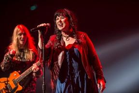 Vocalist Ann Wilson and her sister, guitarist Nancy Wilson are the long serving members of Heart, who had their fans on their feet at the Jubilee Auditorium on Sunday. (Shaughn Butts)